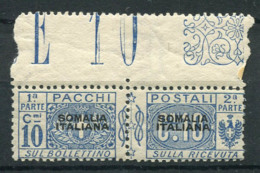 La Somalie 1917 Sass. 2 Neuf ** 100% Colis Postaux 10 Centimes - Somalie