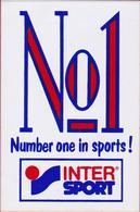 No1 Number One In Sports Intersport Inter Sport Sticker Adesivo Aufkleber Autocollant - Autocollants