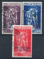 Mer Égée 1930 Sass. 1-3 Oblitéré 100% Poste Aérienne Ferrucci - Italien