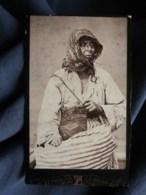 Photo CDV Pauk Zepdji à Salonique - Vieille Bohémienne, Zingari,  Circa 1890 L495 - Anciennes (Av. 1900)