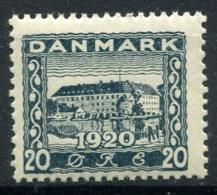 Danemark 1920 Mi. 111 Neuf ** 100% 20 O, SONDERBURG - 1913-47 (Christian X)
