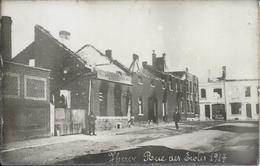 HERVE - Photo Carte - Epreuve - Rue Des Ecoles En 1914 - Bombardement - Dos Plastifié - 2 Scans - Herve