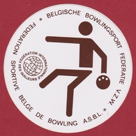 Bowling Belgische Bowlingsport FIQ Federation Internationale De Quilleurs Sticker Adesivo Aufkleber Autocollant - Autocollants
