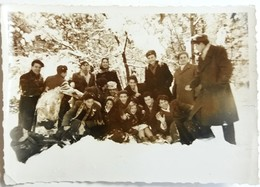№s132  Photography Of  People Group In The Snow - Sofia 1955, Old FOTO PHOTO - Anonymous Persons