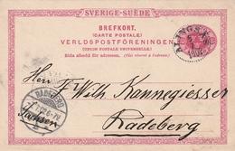 Schweden / 1902 / Postkarte Mi. P 20 K1 ALINGSAS, Nach Radeberg (BB40) - Ganzsachen