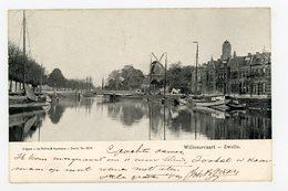 D264 - Zwolle Willemsvaart Boot Schip - Molen - Moulin - Mill - Mühle - Zwolle