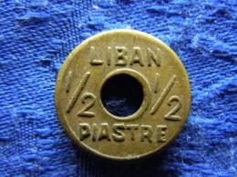 LEBANON 1/2 PIASTRE 1941 ND.  KM11 - Liban