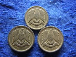SYRIA 5 PIASTRES 1367/1948 KM82, 10 PIASTRES 1367/1948, 1375/1956 KM83 - Syrie