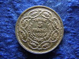 TUNISIA 5 FRANCS 1358/1939, KM264 - Tunisie