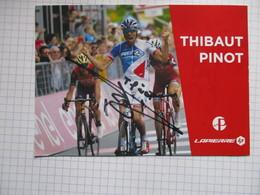 Cyclisme Photo Dedicacee Thibaut Pinot - Cyclisme
