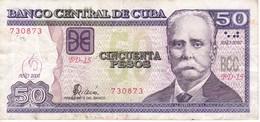 BILLETE DE CUBA DE 50 PESOS DEL AÑO 2002 DE CALIXTO GARCIA (BANKNOTE) - Cuba
