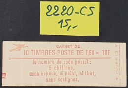 Carnet Fermé N° 2220-C5  Neuf **  TTB - Usage Courant