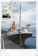 "Espagne - Canaries - 2012 - Centenaire Du Correillo ""La Palma"" En Carte Postale Et Timbre Personnalisé ""Tu Sello"" - - Transbordadores"