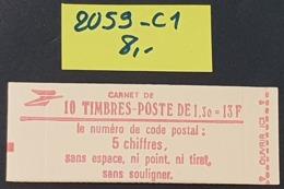 Carnet Fermé N° 2059-C1  Neuf **  TTB - Booklets