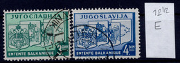 YUGOSLAVIA-GREECE-ROMANIA-TURKEY, 1st Balkan Settlement, LINE PERFORATION 12 1/2 1937 RARE!!!! - 1931-1941 Royaume De Yougoslavie