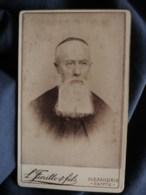Photo CDV  Fiorillo à Alexandrie  Portrait Religieux  Prêtre, Curé, Abbé  Grosse Barbe Carrée  CA 1890 - L498K - Anciennes (Av. 1900)