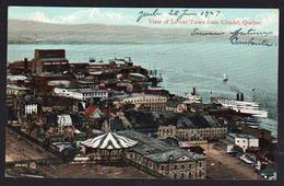 QUEBEC (Canada) Magnifique Vue De La Citadelle Sur La Ville Basse, Bateaux à Quai. Carte Obl. En 1909. SUPERBE - Québec - La Citadelle