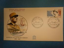 Enveloppe Historique F.D.C.,n.°1660,année 1990,Maréchal De Lattre De Tassigny,format 16X9 Cm,superbe état,envoi En Lettr - 1990-1999