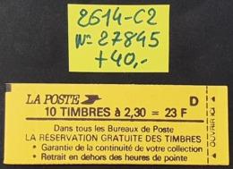 Carnet Fermé N° 2614-C2 Avec N° 27845 Neuf **  TB - Booklets