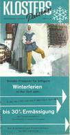 TOURIST BROCHURES 10,5 Cm X 21 Cm.DEPLIANT TOURISTIQUE SUISSE DAVOS PARSENN 1958,photo - G.Schmeiz - Folletos Turísticos