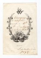 Sacrés Coeur De Jésus Et Marie, Satisfaction à Mlle A. Lachapelle, Bonne Conduite, S. De La Boulière, Lith. Gauvin - Images Religieuses