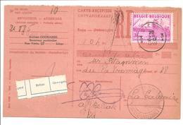 Export 3Fr OBC 770 Liége.Carte-Récépissé - 1948 Export
