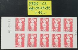 Carnet Non Plié N° 2720-C2 Avec Date: 01.09.92 Neuf **  TB - Usage Courant