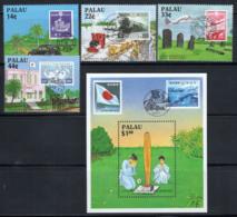 Palau 1987 Mi. 206-209, Bl.2 Neuf ** 100% Connexions Historiques, Japon - Palau