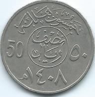 Saudi Arabia - 50 Halala - AH1408 (1988) - KM64 - Saudi Arabia