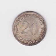 Superbe 20 Pfennig 1874 D  SUP/UNC Brillant D'origine - [ 2] 1871-1918: Deutsches Kaiserreich