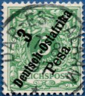 Deutsch Ost-Afrika 1896 3 Pesa Overprint 2005.0231 German East Cancel Dar-es-Salaam - Colonie: Afrique Orientale