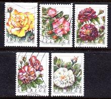 SWEDEN - 1994 FLOWERS ROSES SET (5V) FINE USED SG 1735-1739 - Schweden