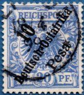 Deutsch Ost-Afrika 1896 10 Pesa Hohenzollern Ship 2005.0232 German East Cancelled - Colonie: Afrique Orientale