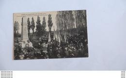 LONS LE SAUNIER  LES BAINS  _ VISITE VETERANS  AU MONUMENT SU SOUVENIR FRANÇAIS    …………BQ-1881 - France