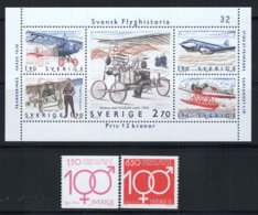 Suède 1984 Mi. 1298-1304 Neuf ** 100% Histoire De L'avion, F. Bremer - Svezia