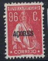 Açores 1921 Mi. 226 Sans Gomme 80% 96 C, Timbre Surimprimé - Azores