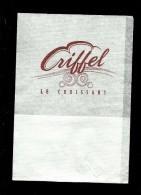 Tovagliolino Da Caffè - Caffè Ecriffel Le Croissant - Servilletas Publicitarias