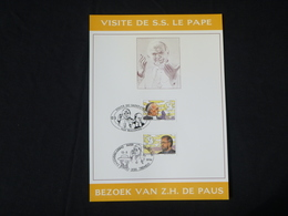 """BELG.1994 2557 & 2558 FDC Filatelic Card : """" Visite De S.s.le Pape /bezoek Van Z.h.de Paus """" - FDC"""
