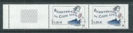 France N° 3644b+c  XX Bicent. Du Code Civil Variété 2 Bdes De Phopho Tenant à 1 Bde à Cheval à Gau, Les 2 Vals Ss Ch, TB - Varieties: 2000-09 Mint/hinged