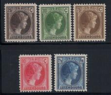 Luxembourg 1927 Mi. 187-191 Neuf ** 100% Grande-Duchesse Charlotte - Luxembourg