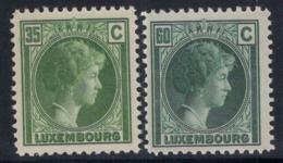 Luxembourg 1928 Mi. 205-206 Neuf ** 100% Grande-Duchesse Charlotte - Luxembourg