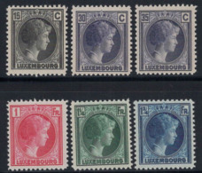 Luxembourg 1930 Mi. 221-226 Neuf ** 100% Grande-Duchesse Charlotte - Luxembourg