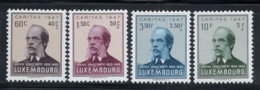 Luxembourg 1947 Mi. 427-430 Neuf ** 100% Caritas, Lentz - Luxembourg