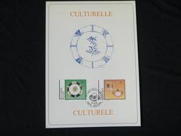 """BELG.1994 2566 & 2567 FDC Filatelic Cards : """" Culturelle/ Culturele """" - FDC"""