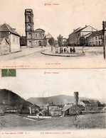 88  ETIVAL  Place De L' Eglise +  L'Abbaye  Vue Prise En Montant à Pajailles - Etival Clairefontaine