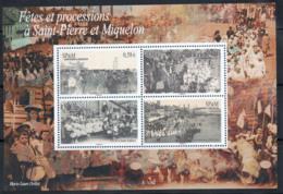 St.Pierre Et Miquelon 2010 Yv. 15 Bloc Feuillet 100% Neuf ** Parti, Culture - Blocks & Kleinbögen
