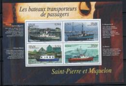 St.Pierre Et Miquelon 2007 Yv. 12 Bloc Feuillet 100% Neuf ** Bateaux, Navires - Blocks & Kleinbögen