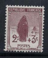 France 1917 Yv. 148 Neuf ** 100% 2 C, Orphelins De Guerre - Frankreich