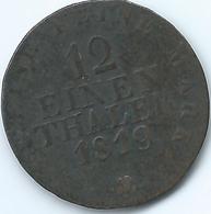 Saxony / Sachsen - Friedrich August I - 1/12 Thaler (2 Gröschen) - 1819 (KM1083.1) - Kleine Munten & Andere Onderverdelingen