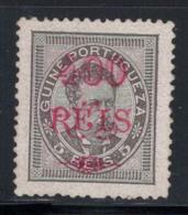 Guinée Portugaise 1880-98 Mi. 71 Sans Gomme 60% 400 R. Sur 5 R, King - Portuguese Guinea